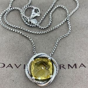 David Yurman Infinity Necklace with Lemon Citrine